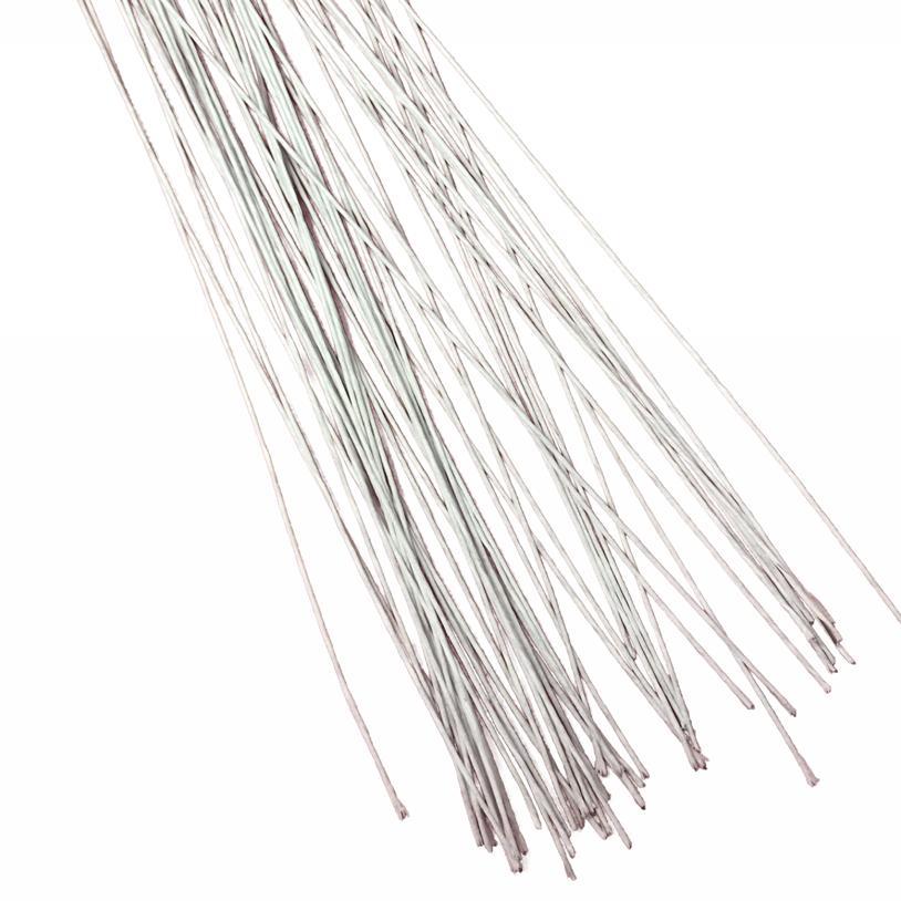 Arames para Flor de Açúcar Nº28 Branco pacote com 50 arame de 30 cm