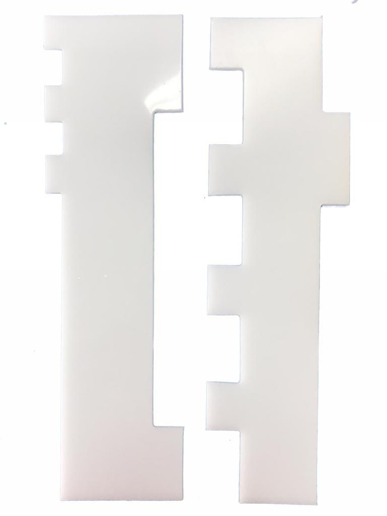 Espatula decorativa de polietileno.