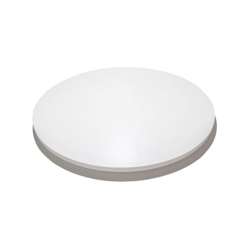 Tábua/Tabuleiro redonda de Madeira MDF 25cm de Diâmetro, totalmente revestida na cor branca texturizada 9mm