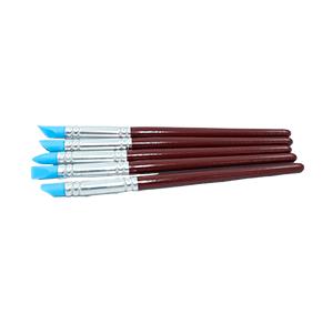 Conjunto de pincéis/pincel modeladores com ponta de silicone, 5 peças.