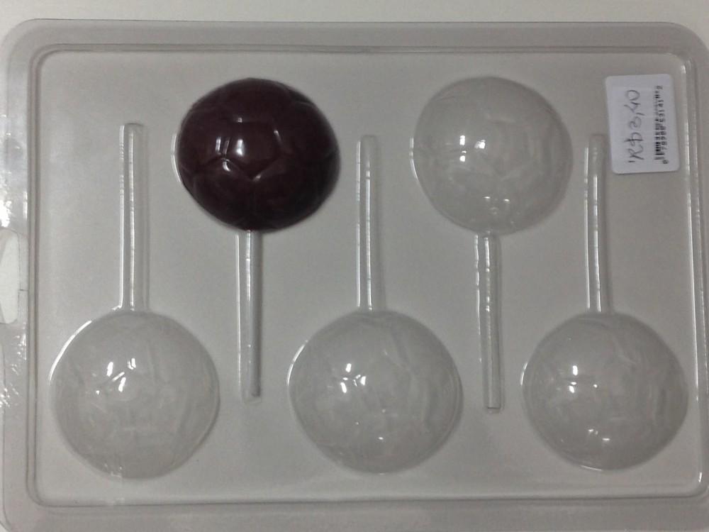 Forma de acetato pirulito bola futebol 5 cavidades