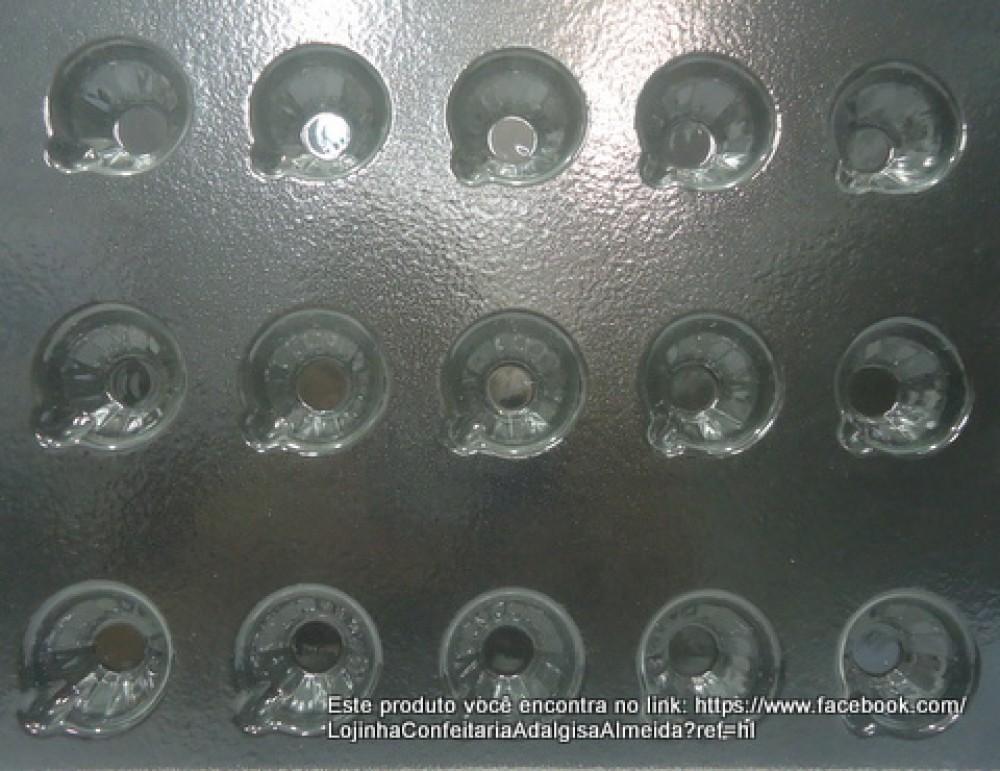 Forma de acetato firme para chocolate em formato de xícara 15 cavidades
