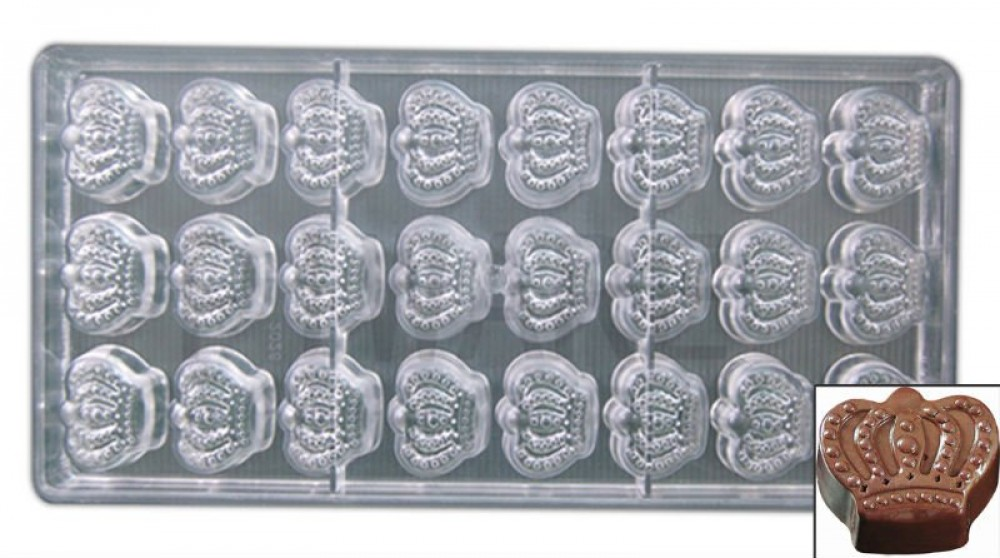 Forma para Chocolate em Formato de Coroa com 24 cavidades