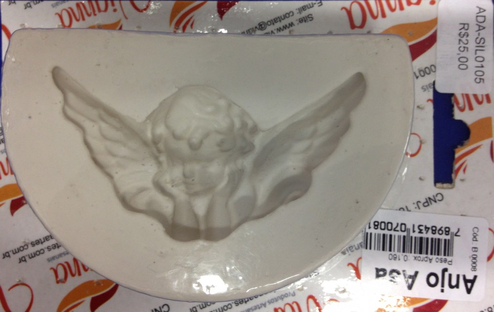 Molde de silicone Anjo asa grande. Ideal para utilizar com Pasta Americana.