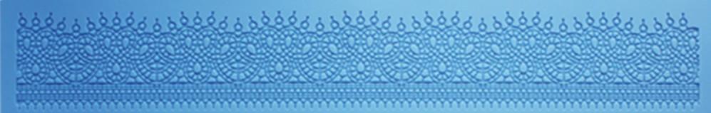 Silicone para renda flexível uma faixa de arabescos com gotinhas