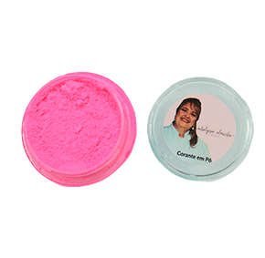 Corante em Pó Fluor Neon Rosa Claro