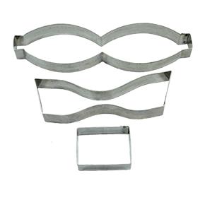 Conjunto de Cortador de Laço Médio Inox