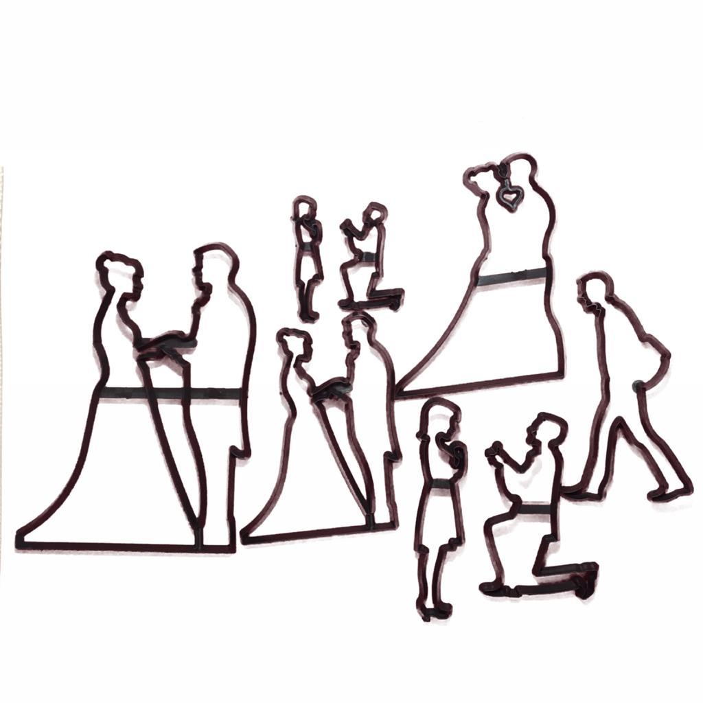 Cortador Patchwork Noivo, Noiva, Casamento, Noivado
