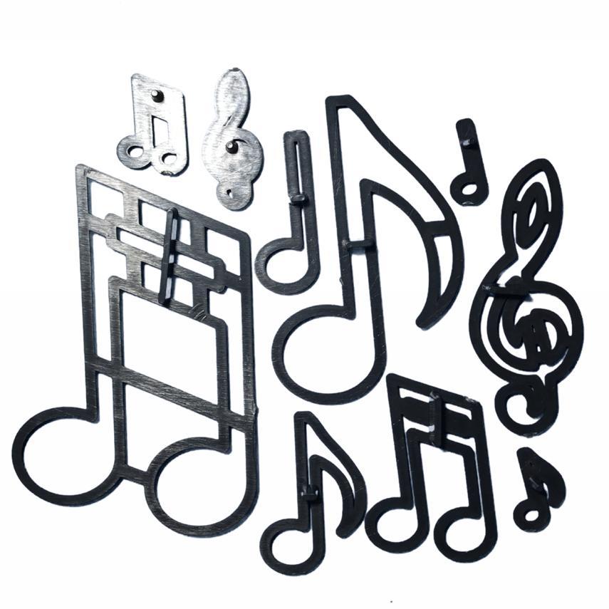 Cortador Patchwork de Notas Musicais