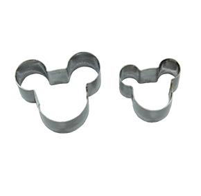 Conjunto de Cortador de Mickey Pequeno com  2 peças