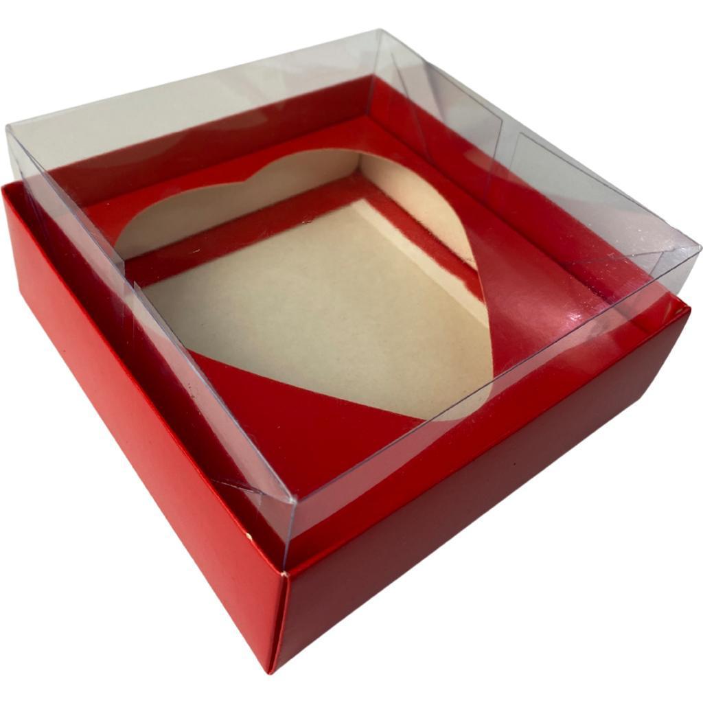 Conjunto de 3 caixas com berço coração 130-150 gramas - VERMELHA - Dia Mães e Dia Namorados