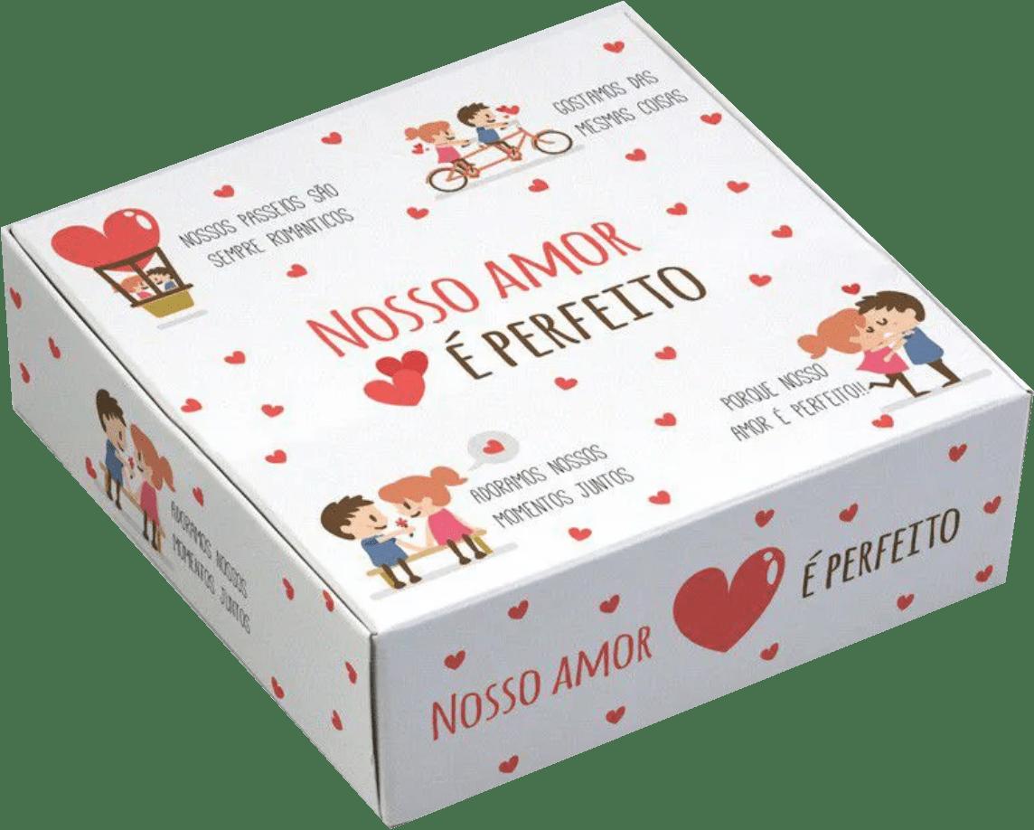 Caixa para 9 doces Namorados - Amor Perfeito