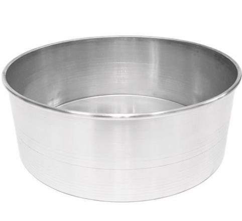 Forma Assadeira redonda de fundo fixo de alumínio para assar bolos 25cm X 8cm