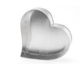 Forma Assadeira Coração de fundo fixo de alumínio para assar bolos 19cm x 15cm X 6cm Bolo 1 kg