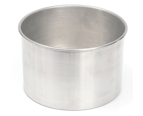 Forma Assadeira redonda de fundo fixo de alumínio para assar bolos 13cm X 10cm