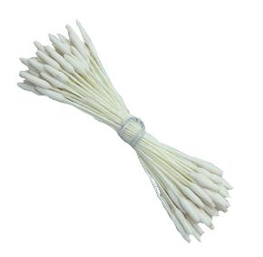 Pistilo/Estame para Flores de Açúcar/Branco com Ponta-70 unidades