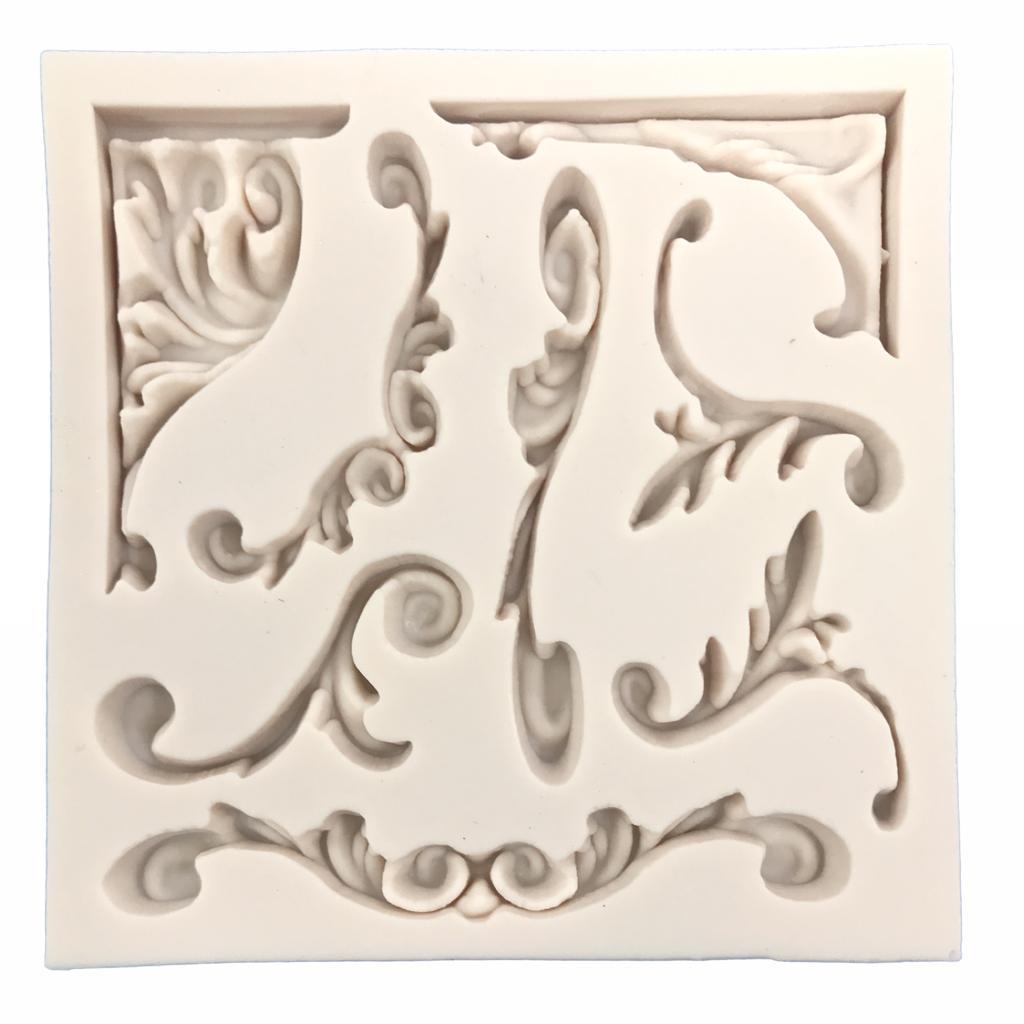 Molde de silicone em formato de Arabescos Finos.