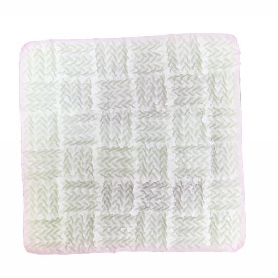 Molde de Silicone em formato de Tecido de tricô.