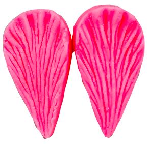 Molde de silicone Frisador/Marcador de nervuras de MINI Pétalas Diversas  2 peças, dupla face