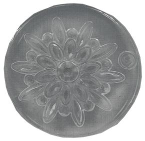 Molde de Silicone em formato de jóias Redonda de Strass com Strass Central.