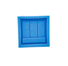 Molde de silicone com forma de maquiagem Blush. Ideal para utilizar com Pasta Americana.