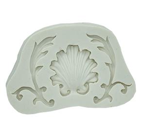 Molde de Silicone em formato de Arabesco  de Laterais e Concha . Ideal para utilizar com Pasta Americana.