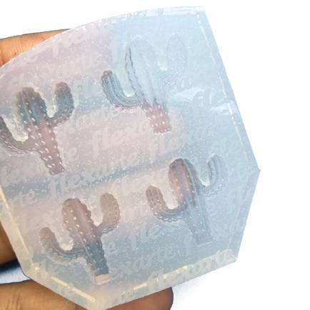 Molde de silicone em formato de Cacto/Cactus Pequeno