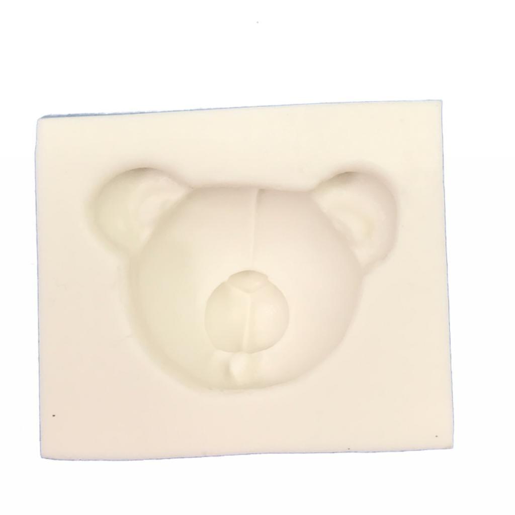 Molde de silicone em formato de Urso-Safari
