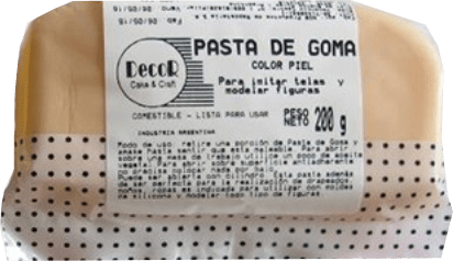 MASSA ELÁSTICA BEGE CLARO DECOR - 200GR