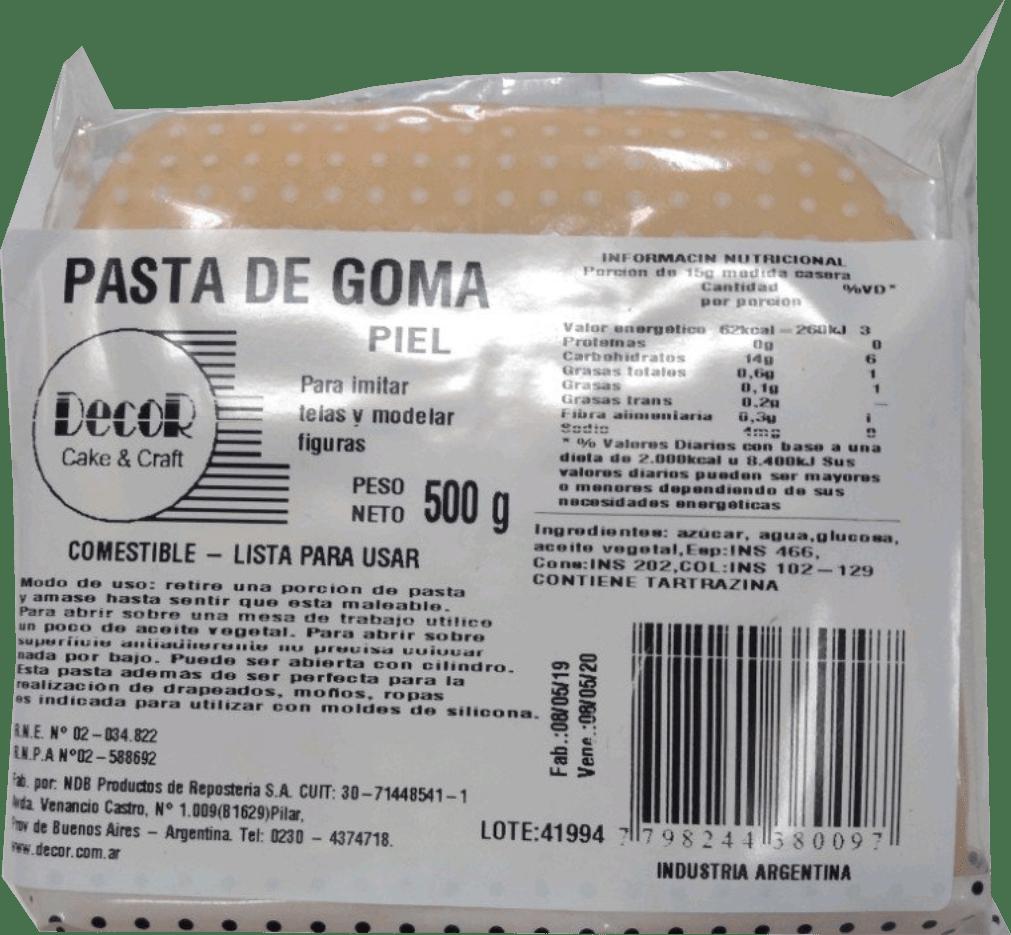 MASSA ELÁSTICA BEGE CLARO DECOR - 500GR