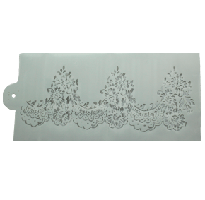 Stencil para Textura em Pasta Americana - Renda