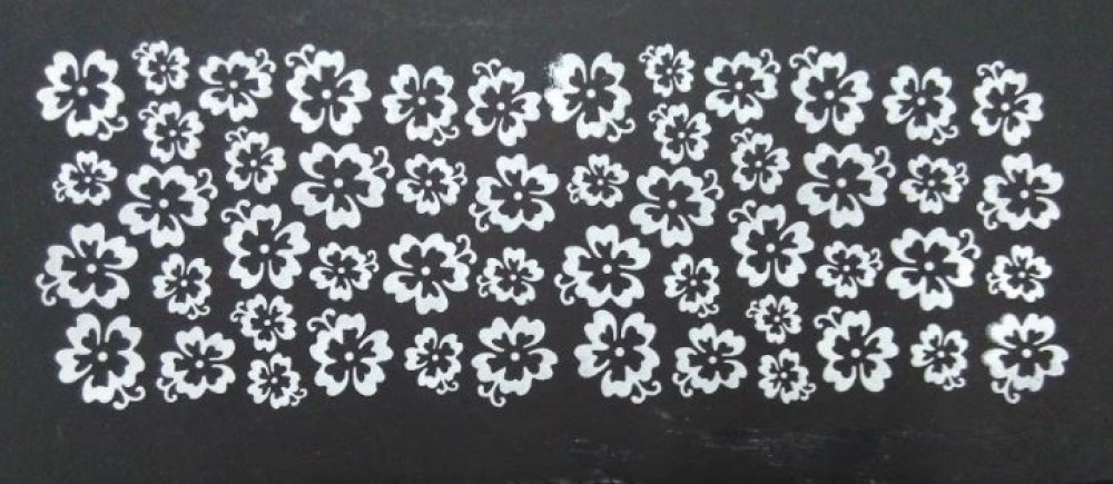 Stencil para Textura em Pasta Americana - Flor de Hibiscus