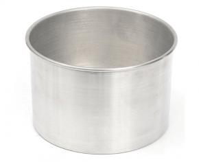 Forma Assadeira redonda de fundo fixo de alumínio para assar bolos 17cm X 10cm