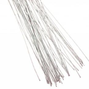 Arame para Flor de Açúcar N°26 Branco  pacote com 50 arames de 36 cm de comprimento