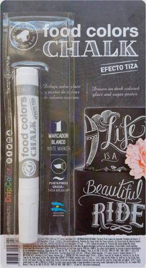 Caneta com tinta comestível Dripcolor BRANCA - CHALKBOARD