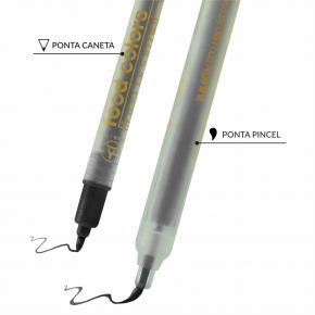 Caneta com tinta comestível Ponta Dupla DripColor