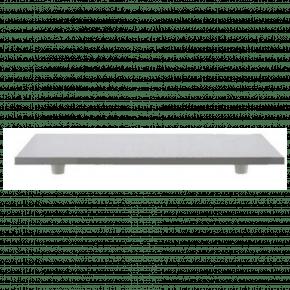 Tábua Retangular 35cmx45cm de Madeira MDF, totalmente revestida na cor branca texturizada