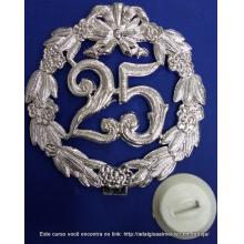 Placa Decorativa 25 anos
