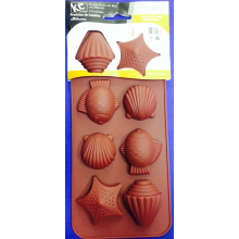 Forma de Silicone para Chocolate Fundo do Mar com 15 cavidades