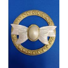 Molde de silicone Em Formato  de Medalhão com Laço. Ideal para utilizar com Pasta Americana.