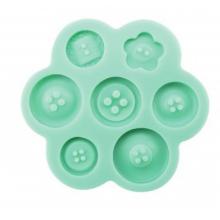 Molde de silicone Em Formato de Botões. Ideal para utilizar com Pasta Americana.