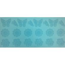 Silicone Renda Flexível - Uma faixa de Borboletas e flores