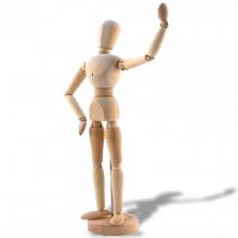Manequim (Boneco) de Madeira articuLaço para modelagem