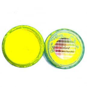 Corante em Pó Fluor Neon Amarelo - Lullycandy