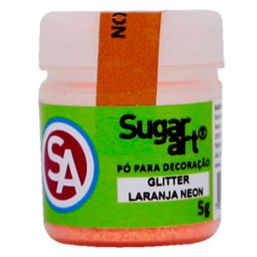 Gliter LARANJA NEON Holográfico Sugar Art