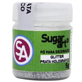 Gliter PRATA Holográfico Sugar Art