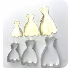 Cortador de Vestido  de Princesas Conjunto com 3 tamanhos