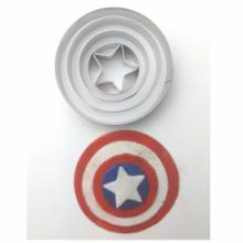 Cortador Inox Capitão América Vingadores Super Heroi