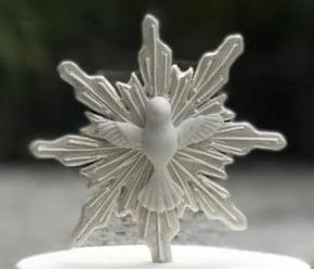 Molde de Silicone em formato de Pombo Pomba Divino Espirito Santo - Batizado