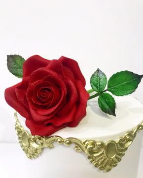 Conjunto de Cortador de Flor Pétala Rosa Conjunto com 3 peças - Grande